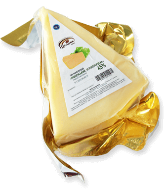 Semi-hard cheese «Rivnenskyy. Agropererobka» 45% of the long ripening
