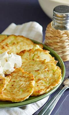 Balkan courgette fritters with cheese