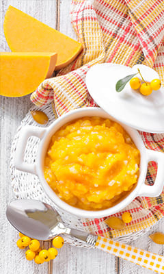 Author's recipe for pumpkin porridge from Mariia Rudomska