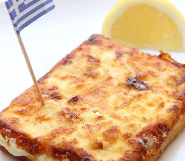 "Easy Greek appetizer ""Saganaki"""
