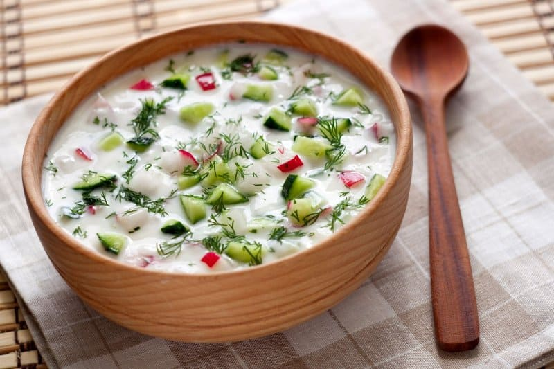 "Cold soup ""Okroshka"""