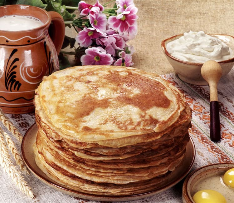 Pancakes from the general director of agro-processing PTP - Rudomska Olga Efimovna