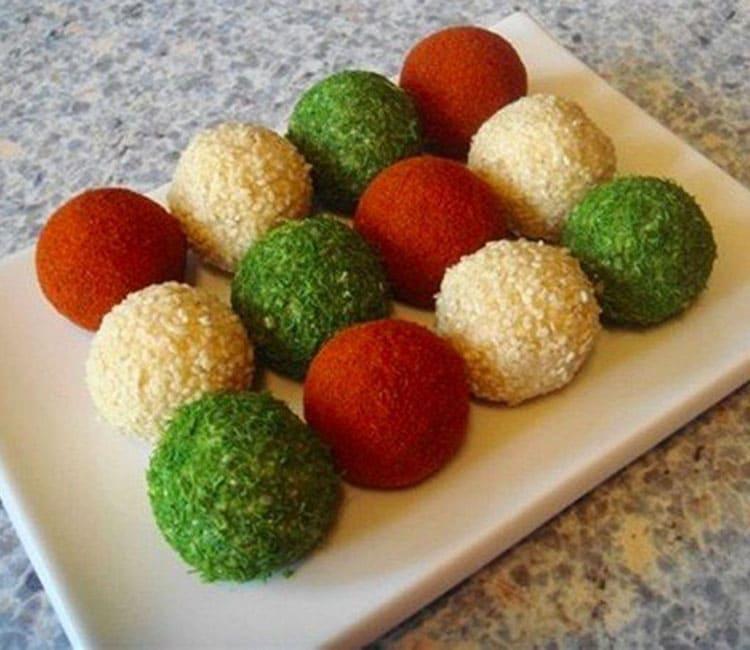 Сырные шарики разные
